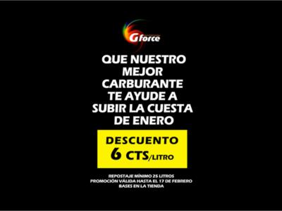 DESCUENTO 6CTS/LITRO CARBURANTE GFORCE