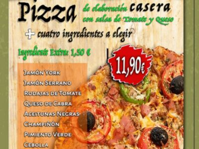 Pizza cuatro ingredientes